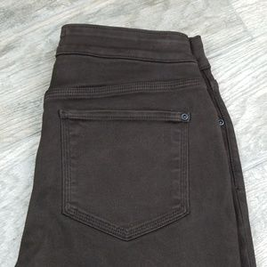 NYDJ 6p leggings brown pockets front and back